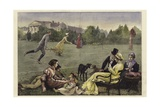 Lawn Tennis Giclee Print by Alfred Edward Emslie