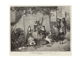 The Puppeteer's Tent - Picture by Fritz Beinke Giclee Print by Fritz Beinke