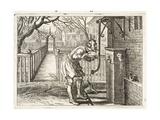 Frozen Tongue, Illustration from 'Emblemata of Zinne-Werk' by Johannes De Brune (1589-1658), Jan… Giclée-Druck von Adriaen Pietersz van de Venne