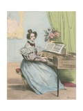 7 Heures Du Soir Giclee Print by Achille Deveria