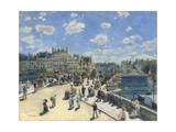 Pierre-Auguste Renoir - Pont Neuf, Paris, 1872 Digitálně vytištěná reprodukce