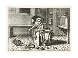 Baby Crying for its Toys, Illustration from 'Emblemata of Zinne-Werk' by Johannes De Brune… Giclée-Druck von Adriaen Pietersz van de Venne