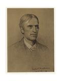 Self Portrait of Hubert Herkomer Giclée-Druck von Hubert von Herkomer