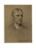 Self Portrait of Hubert Herkomer Giclée-Druck von Sir Hubert von Herkomer