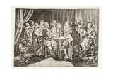 Habit Makes Calluses, Illustration from 'Emblemata of Zinne-Werk' by Johannes De Brune… Giclée-Druck von Adriaen Pietersz van de Venne