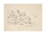 Battle of Quatre Bras: the Fall of the Duke of Brunswick, Pub. J. Booth, 1816 Giclee Print by George Jones