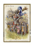 Gulliver as a Knight Giclee Print
