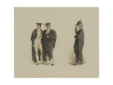 Gentleman Commoner and Nobleman with Pro Proctor, Engraved by J. Agar, Published in R.… Giclee Print by Thomas Uwins
