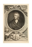 Portrait of John Locke, Illustration from 'Heads of Illustrious Persons of Great Britain', Pub.… Giclee Print by Jacobus Houbraken