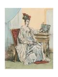 8 Heures Du Soir Giclee Print by Achille Deveria