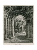 Dryburgh Abbey, West Entrance Giclee Print by Alexander Francis Lydon