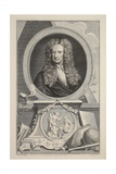 Portrait of Isaac Newton, Illustration from 'Heads of Illustrious Persons of Great Britain', Pub.… Giclee Print by Jacobus Houbraken