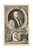 Portrait of Tillotson, Archbishop of Canterbury, Illustration from 'Heads of Illustrious Persons… Giclee Print by Jacobus Houbraken