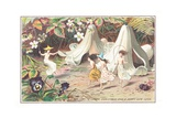 Fairies in the Garden, Christmas Card Giclee Print