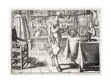 Washing the Corn, Illustration from 'Emblemata of Zinne-Werk' by Johannes De Brune (1589-1658),… Giclée-Druck von Adriaen Pietersz van de Venne