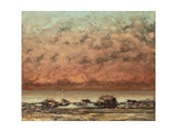 The Black Rocks at Trouville, 1865- 66 Reproduction procédé giclée par Gustave Courbet