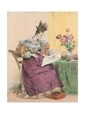 4 Heures Du Soir Giclee Print by Achille Deveria