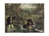 Salmon Fishing Giclee Print