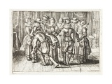 Dancing, Illustration from 'Emblemata of Zinne-Werk' by Johannes De Brune (1589-1658), Jan Jacobs… Giclée-Druck von Adriaen Pietersz van de Venne
