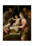 Holy Family with Saints Margaret and Francis, 1578 Giclee Print by Lavinia Fontana