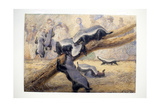 Ratels, 1864 Giclee Print by Joseph Wolf