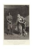 Constance, Arthur and Salisbury, King John, Act III, Sc I Giclee Print by Frank Bernard Dicksee