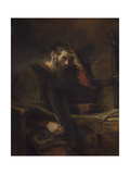 Rembrandt van Rijn - The Apostle Paul, C.1657 - Giclee Baskı