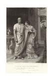 Caesar and Calphurnia, Julius Caesar, Act II, Scene II Giclee Print by Frank Bernard Dicksee