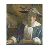 Young Girl with a Flute, C.1665-70 Giclee Print by Jan Vermeer