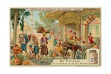 At the Fountain of Sultan Ahmed III at Topkapi Palace Giclee Print