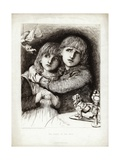 The Babes in the Wood Giclee Print by Sir Hubert von Herkomer