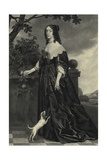 Elizabeth Stuart, Queen of Bohemia Lámina giclée por Gerrit van Honthorst