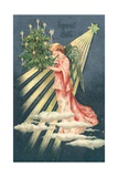 French Christmas Card Giclee Print