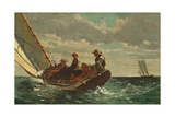 Breezing Up (A Fair Wind) 1873-76 Giclee Print by Winslow Homer