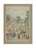 View of a Fete in Fair Street, Southwark, C.1850 Giclee Print by Charles Grignion