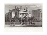 Doric Villa in Regent's Park Giclee Print by Thomas Allom