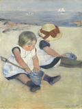 Children Playing on the Beach, 1884 Giclee Print by Mary Cassatt
