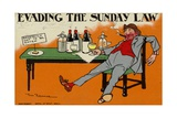 Evading the Sunday Law Giclee Print by Tom Browne
