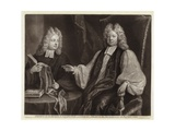 Portrait of Thomas Sprat and Son Giclee Print by Michael Dahl