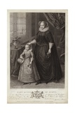 Portrait of Mary, Queen of Scots, and Her Son, James Giclee Print by Federico Zuccaro