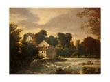 A Watermill Near Egglestone Abbey, Durham, C.1814 Giclee Print by Peter De Wint