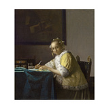 A Lady Writing, C. 1665 Giclee Print by Jan Vermeer