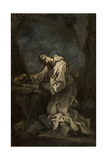 Monastic Saint in Meditation, 1720s Giclee Print by Alessandro Magnasco