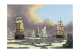 "The Northern Whale Fishery: the ""Swan"" and ""Isabella"", C. 1840 Lámina giclée por John Of Hull Ward"