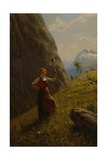 Dairymaid with Rake Giclee Print by Hans Andreas Dahl