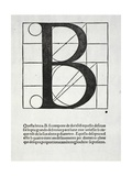 B, Illustration from 'Divina Proportione' by Luca Pacioli (C.1445-1517), Originally Pub. Venice,… Giclee Print by  Leonardo da Vinci