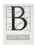 B, Illustration from 'Divina Proportione' by Luca Pacioli (C.1445-1517) Giclee Print by  Leonardo da Vinci
