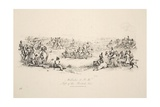 Waterloo, 2Pm, Left of the British Line, Pub. J. Booth, 1816 Giclee Print by George Jones