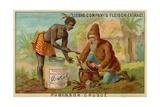 Robinson Crusoe: Cooking Giclee Print