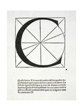 C, Illustration from 'Divina Proportione' by Luca Pacioli (C.1445-1517), Originally Pub. Venice,… Giclee Print by  Leonardo da Vinci